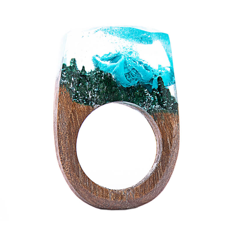 انگشتر چوبی 3