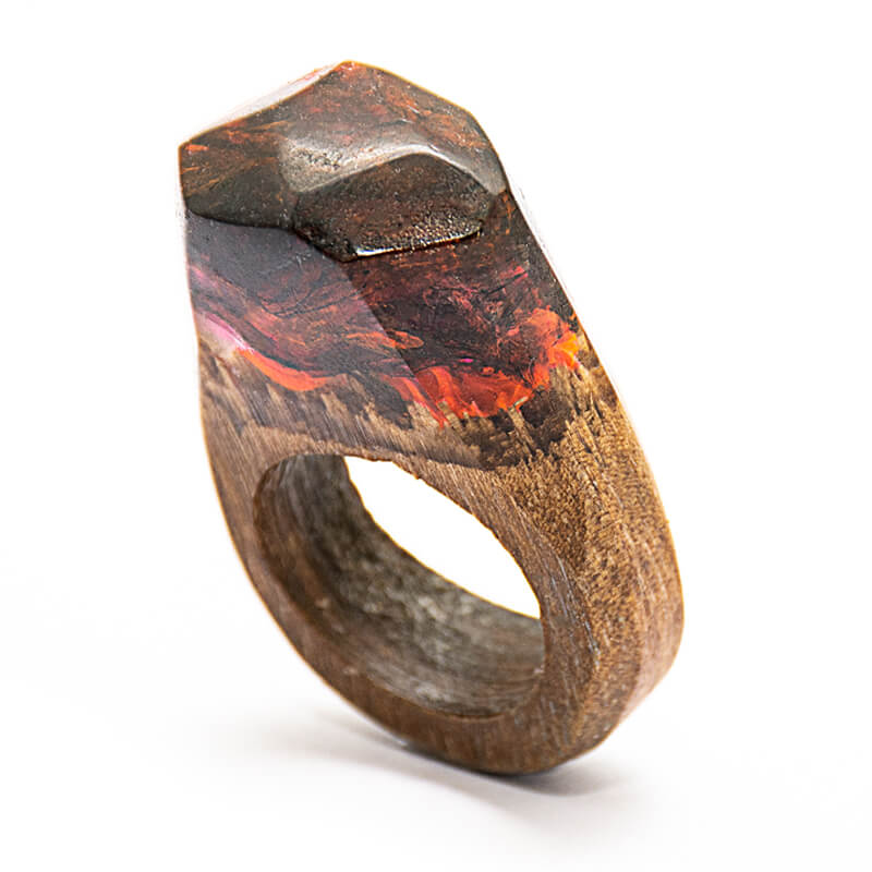انگشتر چوبی 52