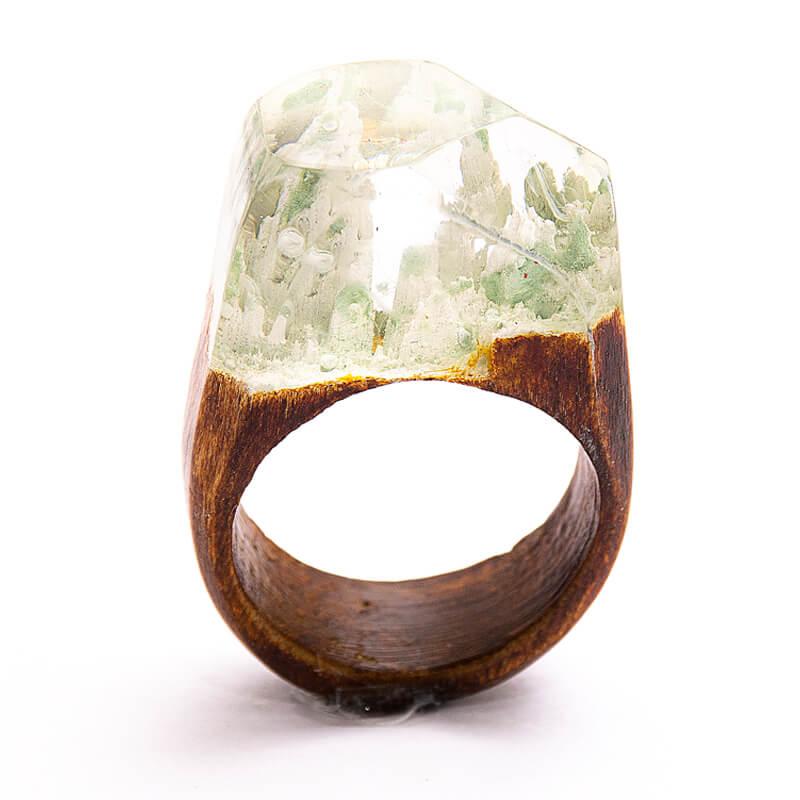 انگشتر چوبی 73