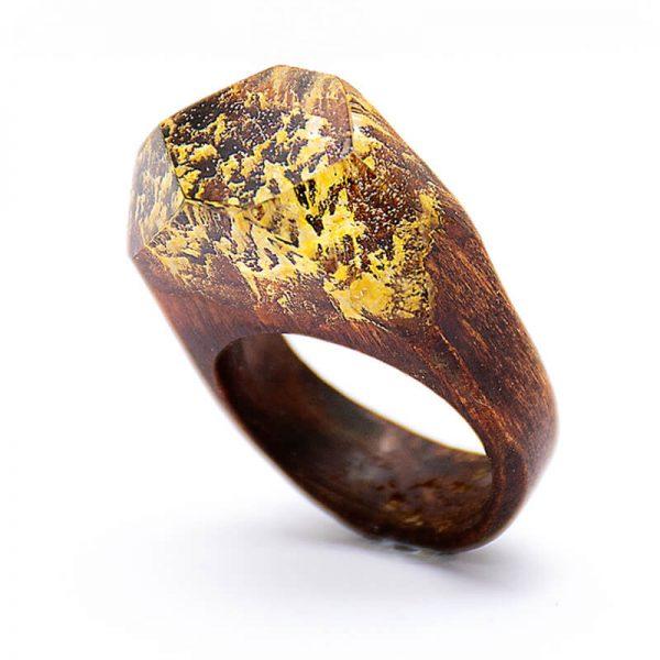 انگشتر چوبی 77