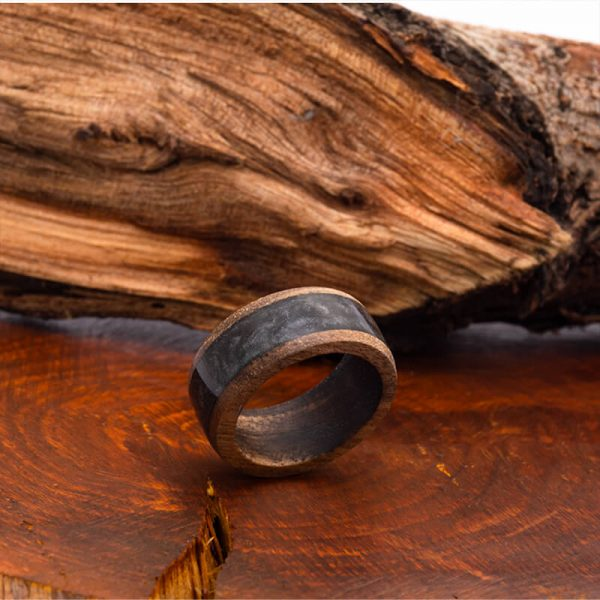 رینگ چوبی رزینی باربد مدل رنگین کمان کد ch3211
