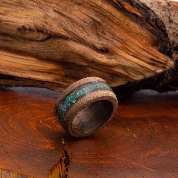 رینگ چوبی رزینی باربد مدل رنگین کمان کد ch53513