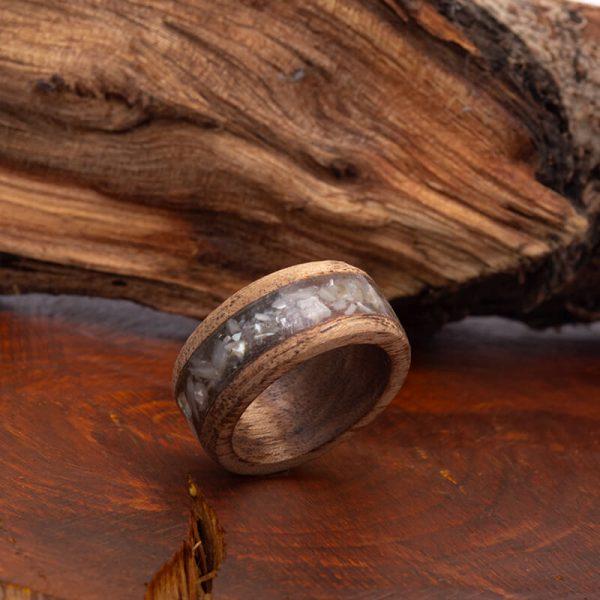 رینگ چوبی رزینی باربد مدل رنگین کمان کد ch5215