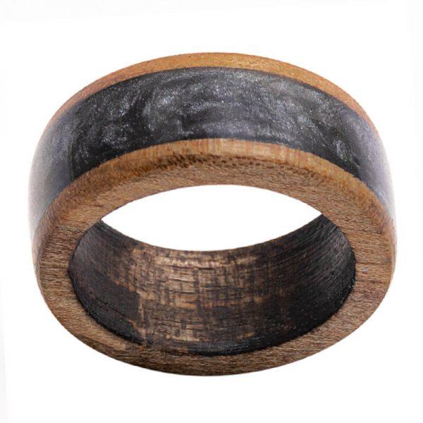 رینگ چوبی رزینی باربد مدل رنگین کمان کد ch32019