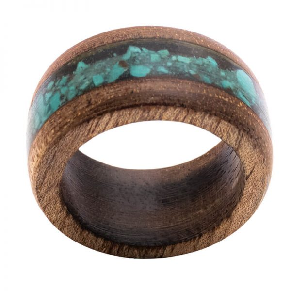 رینگ چوبی رزینی باربد مدل رنگین کمان کد ch53528