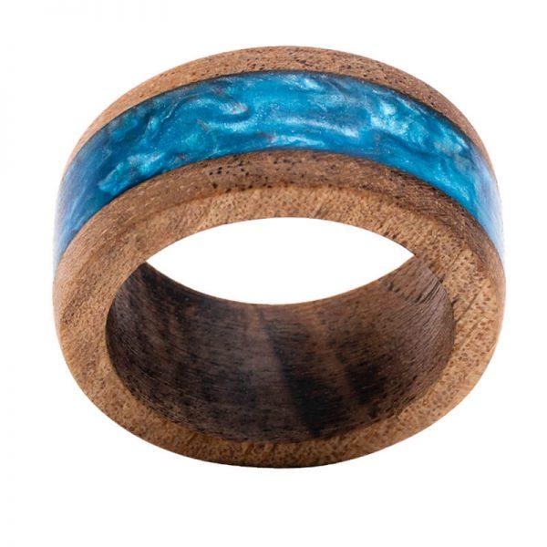 رینگ چوبی رزینی باربد مدل رنگین کمان کد ch53230
