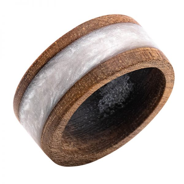 رینگ چوبی رزینی باربد مدل رنگین کمان کد ch5331