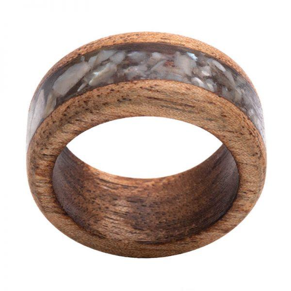 رینگ چوبی رزینی باربد مدل رنگین کمان کد ch52332
