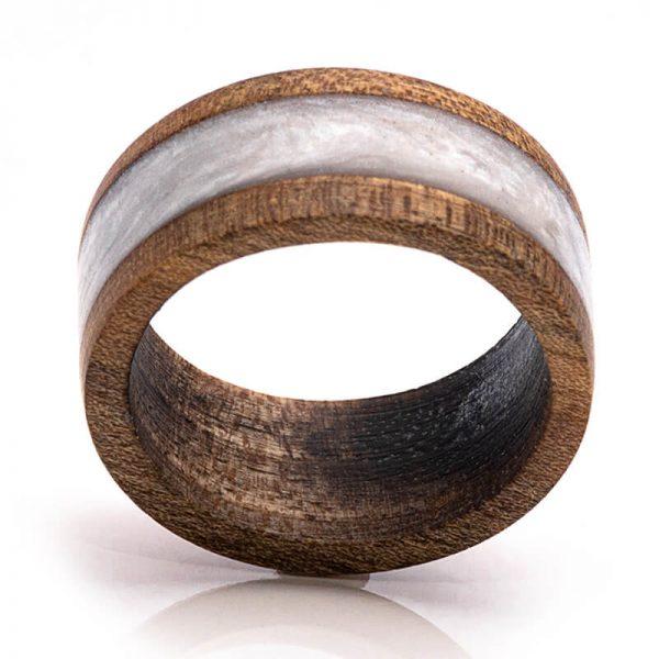 رینگ چوبی رزینی باربد مدل رنگین کمان کد ch53033